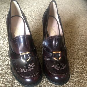 Salvatore Ferragamo heeled loafers
